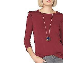 Dorothy Perkins - Berry ruffle top