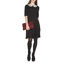 Dorothy Perkins - Tall black jersey fit and flare dress