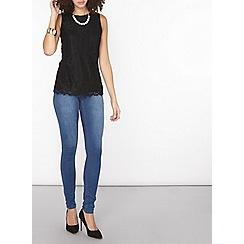 Dorothy Perkins - Tall black lace shell top