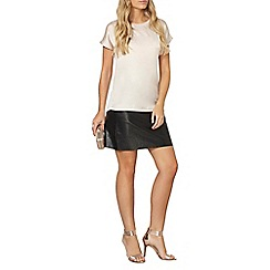 Dorothy Perkins - Champagne satin front t-shirt