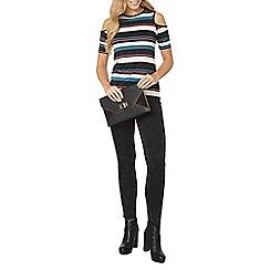 Dorothy Perkins - Multi striped tie sleeve top