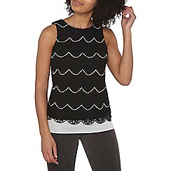 Dorothy Perkins - Black two tone lace top