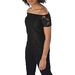 Dorothy Perkins - Black lace bardot top