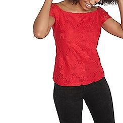 Dorothy Perkins - Raspberry lace bardot top