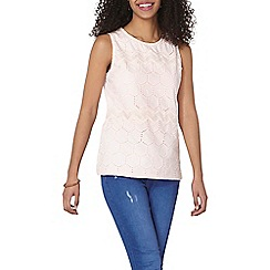 Dorothy Perkins - Blush broderie shell top