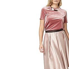 Dorothy Perkins - Blush velour t-shirt