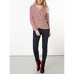 Dorothy Perkins - Raspberry wrap jersey knit top