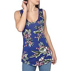 Dorothy Perkins - Tall cobalt tropical vest top