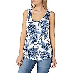 Dorothy Perkins - Blue floral print vest