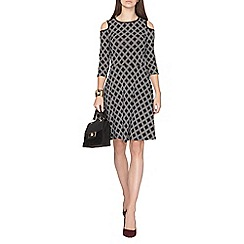 Dorothy Perkins - Black diamond cold shoudler dress