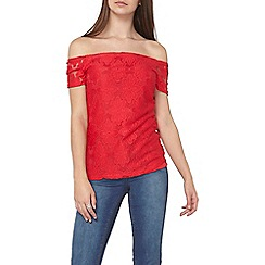 Dorothy Perkins - Tall lace raspberry bardot top