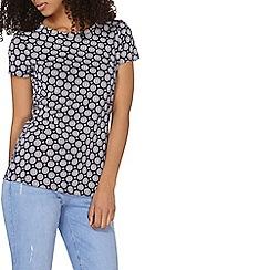 Dorothy Perkins - Navy geo t-shirt