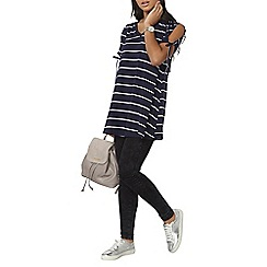 Dorothy Perkins - Navy and ivory striped tunic