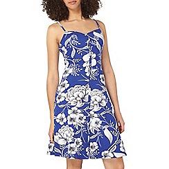Dorothy Perkins - Tall cobalt floral cami dress