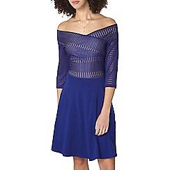 Dorothy Perkins - Tall cobalt lace bardot dress