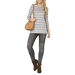 Dorothy Perkins - Grey textured stripe tunic top