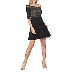 Dorothy Perkins - Black lace bardot dress