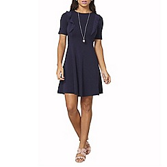 Dorothy Perkins - Navy chiffon ruffle dress