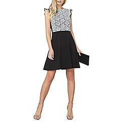 Dorothy Perkins - Black and ivory ruffle lace dress