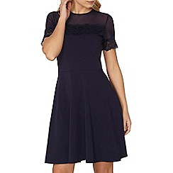 Dorothy Perkins - Navy mesh and lace dress