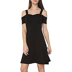 Dorothy Perkins - Tall black strap bardot dress