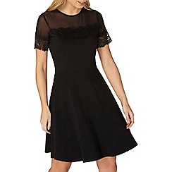 Dorothy Perkins - Black mesh and lace dress