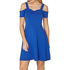 Dorothy Perkins - Cobalt bardot dress with straps