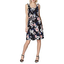 Dorothy Perkins - Black floral ruffle sun dress