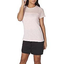 Dorothy Perkins - Pink lace yoke t-shirt