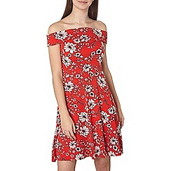 Dorothy Perkins - Tall red floral bardot dress