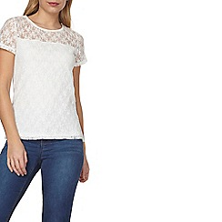 Dorothy Perkins - Ivory sequin lace detail top