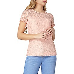 Dorothy Perkins - Pink sequin lace t-shirt