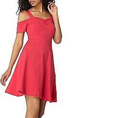 Dorothy Perkins - Pink strap cold shoulder dress