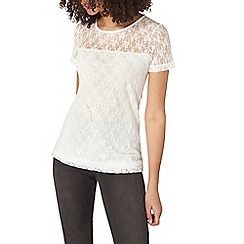 Dorothy Perkins - Tall ivory sequined front t-shirt
