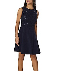 Dorothy Perkins - Blue sequin lace dress