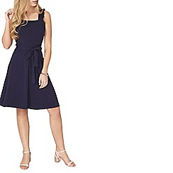 Dorothy Perkins - Sleeveless navy ruffle sun dress