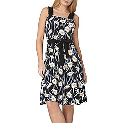 Dorothy Perkins - Black daisy ruffle sun dress