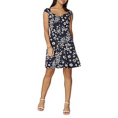 Dorothy Perkins - Navy floral sweetheart dress