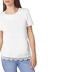 Dorothy Perkins - Tall ivory circle trim detail t-shirt