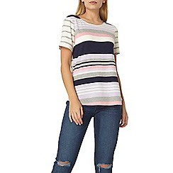 Dorothy Perkins - Lilac and pink curve hem t-shirt