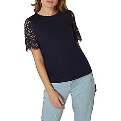 Dorothy Perkins - Lace sleeves t-shirt