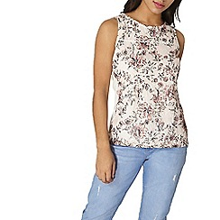 Dorothy Perkins - Nude floral printed lace shell top