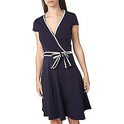 Dorothy Perkins - Tall navy zip wrap dress