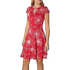 Dorothy Perkins - Pink floral keyhole dress