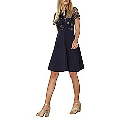 Dorothy Perkins - Navy floral printed lace dress