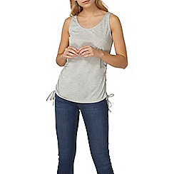 Dorothy Perkins - Grey ruched side tank top