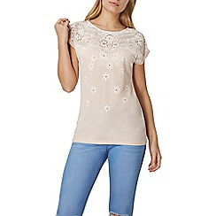 Dorothy Perkins - Nude puff print t-shirt