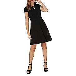 Dorothy Perkins - Black velvet trim skater dress
