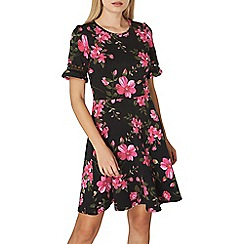 Dorothy Perkins - Pink floral lace trim dress