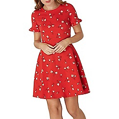 Dorothy Perkins - Red floral printed ruffle sundress